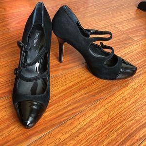 White House Black Market sz 8.5M buckle heels